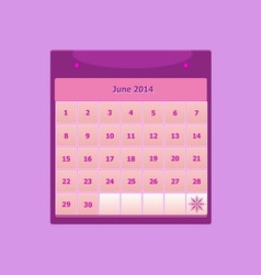 Design schedule monthly june 2014 calendar vector
