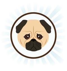 Dog cartoon inside circle design vector