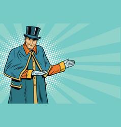 doorman welcomes guests vector image