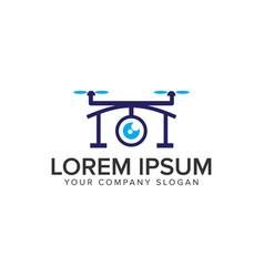 drone logo design concept template vector image