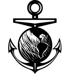 Earth anchor vector