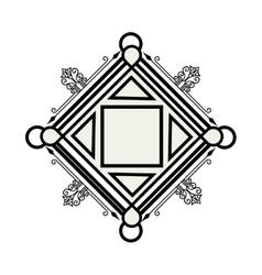 elegant frame decorative icon vector image vector image