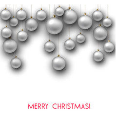elegant shiny christmas background with white vector image