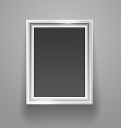 Empty picture frame on the wall template vector image