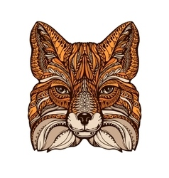 Ethnic ornamented fox Hand drawn vector image