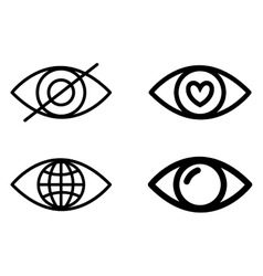 Eye design Cartoon icon White background vector image