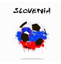 Flag of Slovenia as an abstract soccer ball vector