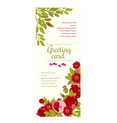 floral greeting card template for flower shops or vector image