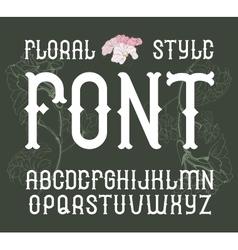 floral vintage style font Elegant Flower vector image