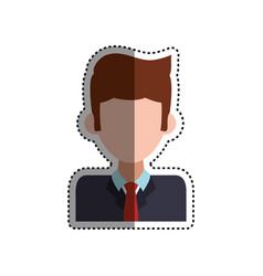 frame businessman faceless picture vector image