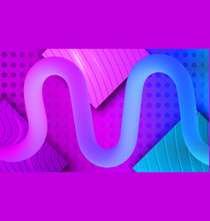 Futuristic fluid lines on carving background vector