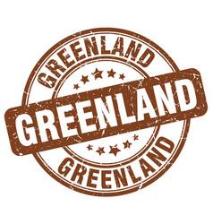 Greenland brown grunge round vintage rubber stamp vector
