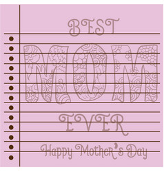 greeting card mother day theme collection vector image