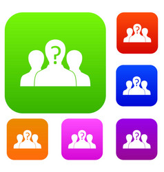Group of people with unknown personality set color vector