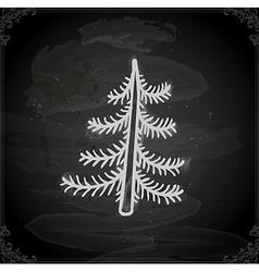 Hand Drawn Pine Tree vector image