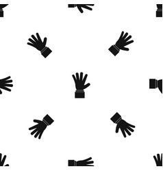 hand showing five fingers pattern seamless black vector image