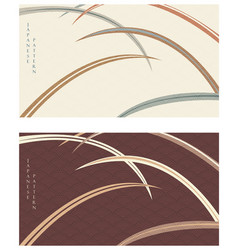 japanese background with leaves pattern abstract vector image