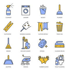 laundry cleaning service hand clean cloth and vector image