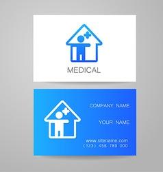 Medical card template vector
