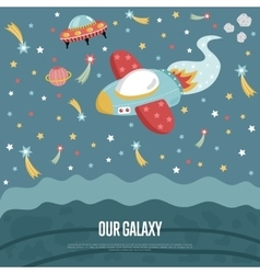 Our Galaxy Conceptual Web Banner vector image