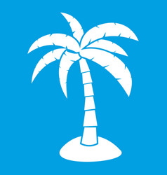 Palm icon white vector
