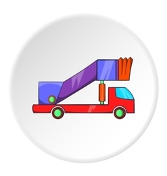 Passenger gangway icon cartoon style vector