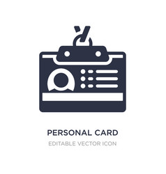 Personal card contact data icon on white vector