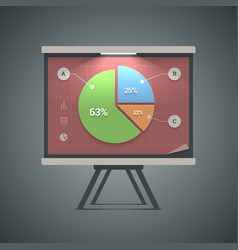 Pie chart presentation vector image