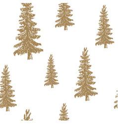 pine tree hand drawn sketch retro vintage vector image