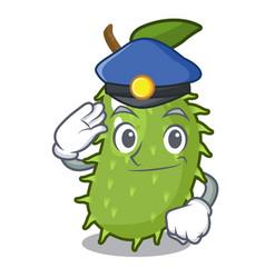police cartoon soursop fruit in the market vector image