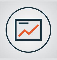 Presentation colorful outline symbol premium vector