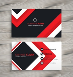 Red black business card vector