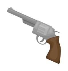 Revolver icon in cartoon style isolated on white vector image