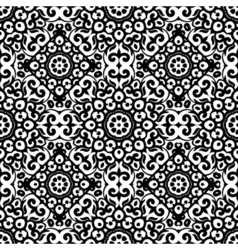 Seamless pattern with black and white ornament vector