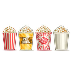 Set popcorn buckets vector