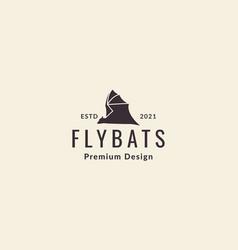 Silhouette modern shape bat fly logo icon design vector
