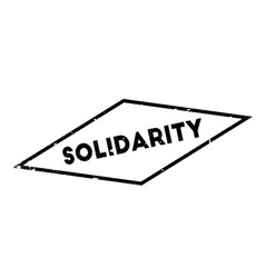 solidarity rubber stamp vector image