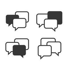 Speech chat bubbles set on white background vector