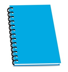 Stack ring binder book or notebook isolated vector
