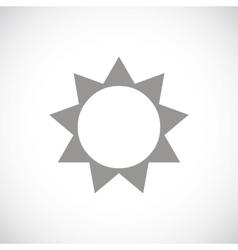 Sun black icon vector