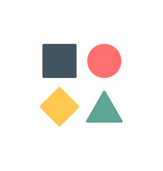 Template simple geometrical logo with triangle vector