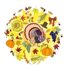Thanksgiving day and harvest vector image