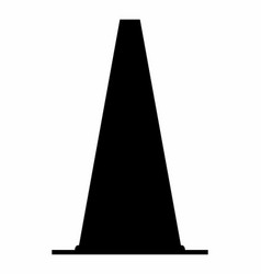 traffic cone dark silhouette vector image