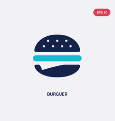 two color burguer icon from food concept isolated vector image