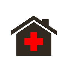 virus hospital medical help cross icon vector image