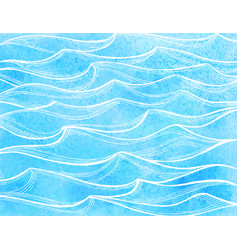 watercolor sea waves vector image