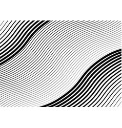 Wavy waving grid parallel irregular lines vector