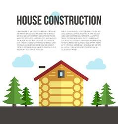 Wooden House Building vector