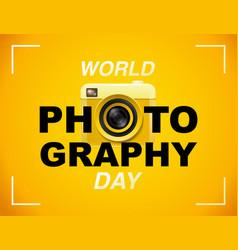 World photography day eventa banner logo vector