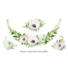 flower bouquet floral wreath design object vector image vector image